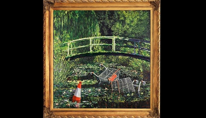 """""""Show me the Monet"""" Banksy'ego sprzedany za 7,5 mln funtów!"""